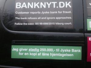 250.000 kr til jyske bank, for at vise optagelse / hjemtagelse af lån 4.328.000 kr i Nykredit