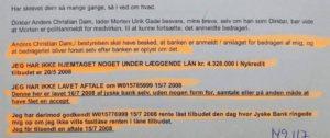 25-05-2016 mail til Anders Dan Vis os at du og jyske Banks ikke er en bedragerisk bank - Vis os nu beviser for at vi har optaget et lån, Nykredit på 4.328.000 kr