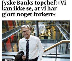 Denmark's perhaps biggest banking scandal during escalation.  New Danish bank scandal under investigation, by the customer himself, while other lawyers and banks just cover over the small matter.  And this time it's not about money laundering, which the Danish banks are already known for.  This time it is a false and fraud matter with Denmark's second largest bank Jyske Bank.  In this case the danish lawyers Lundgrens are deeply involved, in that the client's, allegation of fraud and document false against Jyske Bank, has not been presented to the court, before the client himself had to present evidence and allegations to the court, at October 28.  And why the Jyske Bank fraud, against their small customer has not yet been stopped, after 11 years of fraud.  What do Lundgrens think about our allegations, and evidence against Jyske bank about the fraud chase.  Dan Terkildsen said August 13 that the Board of Jyske Bank was not guilty of anything.  Lundgrens have not one comment of our claims.   ? That is very strange ?  WHY ?. One month ago, after being discovered at Lundgrens, is working for Jyske bank, and has worked for the defendant Jyskebank, at least since April 2018   And Dan Terkelsen let their client, believe that Lundgrens was their lawyer, but at the same time, Lundgren's lawyers also received a million fees to work for Jyske Bank.  It seems most likely that Jyske bank has bribed Lundgrens, to meet up in court, without submitting the client's claims against Jyske Bank, just to lose the case.  Would you like to tell the group management CEO Anders Dam, that we do not want to be deceived.  The danish power bank jyskebank Sven Buhrkall  Kurt Bligaard Pedersen  Rina Asmussen  Philip Baruch  Jens A Borup  Keld Norup  Christina Lykke Munk  Haggai Kunisch  Marianne Lillevang Anders Dam  Leif Larsen  Niels Erik Jakobsen Per Skovhus  Peter Schleidt  We just want to meet, with the President Anders Christian Dam, and as adults talk together, because this is not the way to do fair banking business.  And we have no interest in writing anything untrue.  The question in court, is whether we are right, and can prove we are right, that Jyske bank is making fraudulent activities  What does Lundgrens mean? you never told us that.  Feel free to leave a comment on Facebook, Twitter for updates.  Please Call os at  +45 22 22 77 13 if you need any further information.  See more at banknyt  Link www.BANKNYT.dk  The Chase BS-402/2015-VIB  This is just a call to dialogue, as when we first wrote in May 2016 to the entire board in the Jyske Bank.  Best regards from Storbjerg Business  Soevej 5 3100 Hornbaek  Vi just want to be talking with you Anders Dam, and say that fraud and document false against Jyske banks customer's is not fun, so please stop it    / /  Why is the Danish state not intervening?  the Financial Supervisory Authority, the Ministry of Finance, the Ministry of Justice, the police, the Ministry of State, the Parliament.  Everyone knows very well that Jyske bank is doing Fraud here.  But ok if Denmark wants to allow Danish banks to make money washing, fraud, and which now also seemed to be about bribery, to keep the case out of court.  We ask you what do you think this looks like? Has Jyske bank bribed the client's lawyer Lundgrens, in this way to disappoint in legal matters?  The client does not give up, even after probably 2 corrupt law firms, Jyske bank's customer has changed lawyer at the beginning of November, for good time since 2015.  The second time must be the course of happiness, we hope that Jyske bank the big Danish bank will come to an understanding soon.  And say sorry, we have not shown that there were any small problems.  / /  this is just a little search word  #JYSKE BANK BLEV OPDAGET / TAGET I AT LAVE  #MANDATSVIG #BEDRAGERI #DOKUMENTFALSK #UDNYTTELSE #SVIG #FALSK  #Bank #AndersChristianDam #Financial #News #Press #Share #Pol #Recommendation #Sale #Firesale #AndersDam #JyskeBank #ATP #PFA #MortenUlrikGade #PhilipBaruch #LES #BirgitBushThuesen #LundElmerSandager #Nykredit #MetteEgholmNielsen #Loan #Fraud #CasperDamOlsen #NicolaiHansen #AnetteKirkeby #SørenWoergaaed #Gangcrimes #Crimes  #Koncernledelse #jyskebank #Koncernbestyrelsen #SvenBuhrkall #KurtBligaardPedersen #RinaAsmussen #PhilipBaruch #JensABorup #KeldNorup #ChristinaLykkeMunk #HaggaiKunisch #MarianneLillevang #Koncerndirektionen #AndersDam #LeifFLarsen #NielsErikJakobsen #PerSkovhus #PeterSchleidt  Rødstenen advokater Thomas Schioldan Sørensen.  Lundgrens advokater partner Dan Terkildsen  Lundgrens Niels Gram- Hanssen, Pedram Moghaddam, Dan Terkildsen, Tobias Vieth og Thomas Stampe, flytter til nyt kontor.