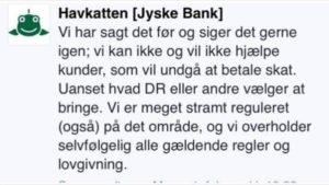 Skal vi lige igen, læse at jyske bank, er meget meget ærligt - Jyske bank påstår at banken overholder alle regler og love. Hahahaha det er morsomt - Ok så siger vi det, jyske bank er ærlige og lyver slet ikke. Hahahaha nej undskyld nu griner jeg igen - Jyske bank årets komiker med vanvittig morsom og komiske opførsel. - Kik så på bare en sag, som denne her og se hvor mange regler og love jyske bank har brudt. - Og så forsøgt at skjule deres løjen ved mere løgn. / at nægte kunder aktindsigt, for at dække over hvad jyske bank laver - Lyve i retsforhold - Og så er der her kun en tale om en sag - hvad med de 900.000 andre kunder Hvor mange kunder har jyske bank snydt på denne måde. ? - Jo jyske bank har skam både snydt og bedraget os. - Og top ledelsen i jyske bank har mindst kendt til dette siden 25 maj. 2016 - Eller da sagen blev anlagt i 2013 hvor jyske Banks advokat Morten Ulrik Gade kikkede alle bankens bilag igennem. Og den gang besluttede at sandheden skulle skjules. - Husk advokat Morte Ulrik Gade skrev, til kunden at det intet nyt er i sagen, - Morten viste dengang ikke at vi ville opdage sandheden om den ærlige jyskebank