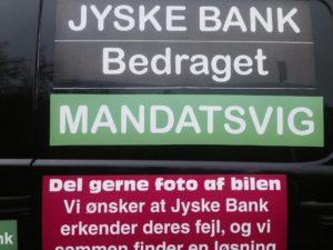 Bøjer jyske bank loven så tyveri / mandatsvig kan blive lovligt sammen med de måske rådne advokater i Lund Elmer Sandager som lyver i retsforhold - Er der ikke noget jyske bank vil tale om - Se spørgsmål til jyske bank her