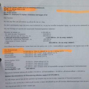 Danmarks nok mest uærlige bank lyver her i mail til syg kunde