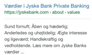 Jyske bank åben og hæderlig