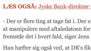 Jyske bank har flere problemer end bare at manupuler med datoer