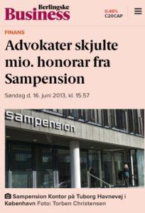 Jyske Banks advokater Lund Elmer Sandager skjulte MILION honorar, fra PFA pensam pension