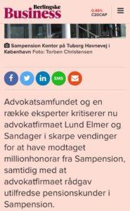Jyske Banks advokater Lund Elmer Sandager, morsom moral, Moral er godt, dobbelt moral er dobbelt så godt