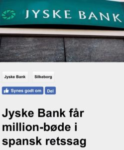 Just ask the Danish bank, jyske bank Why the bank not doe admit Fraud And why the bank not start to apologize all crimes. www.banknyt.dk - What would you say to your bank if they were snatched millions from your account? For alleged interest rate, on a loan, since 1 January 2009, but there is no loan taken. - And you discovered that the bank has lied, exploited That you were ill after a stroke, was was not a problem for jyske bank to deceive you, and for the last 10 years The bank, refuses to quit cheating. -- -- When the Danish banks is cynical and fully aware, about their criminal activities, but nevertheless continue crimes as fraud against the bank's customers. That the Danish customers, do not can trust their own bank Is becoming a huge problem for Denmark, and the Danish bank customers. - And can infect Denmark's reputation, as no-one said that the want to stop the banks many violations of laws and regulations. Ranging from money laundering to the more coarse crimes such as documentary fraud or just fraud - Society can hardly be a major problem for the confidence of the Danish bank's The Danish bank (Jyske bank) Jutland bank has before got a big fine, for money laundering. Money laundering, is a crime against the state, and against all taxpayers in the country, the crime takes place in. - But this does not stop the Danish jyske bank, as now deliberately continues a fraud business. With CEO Anders Dam and Group Management full acept. - Jyske bank is most well known, as the bank is probably good to give bad advice, to earn money to the bank itself. Though the Danish bank is already well known, for providing poor advice that the bank as always hopes for the bad advice is not detected until after 3 years. So the bank with the law can avoid paying compensation with the law in hand. -- -- - - #JYSKE BANK BLEV OPDAGET / TAGET I AT LAVE #MANDATSVIG #BEDRAGERI #DOKUMENTFALSK #UDNYTTELSE #SVIG #FALSK #Bank #AnderChristianDam #Financial #News #Press #Share #Pol #Recommendation #Sale #Firesale #AndersDam #JyskeBank #ATP #PFA #MortenUlrikGade #PhilipBaruch #LES #BirgitBushThuesen #LundElmerSandager #Nykredit #MetteEgholmNielsen #Loan #Fraud #CasperDamOlsen #NicolaiHansen #AnetteKirkeby #SørenWoergaaed #Gangcrimes #Crimes #Koncernledelse #jyskebank #Koncernbestyrelsen #SvenBuhrkall #KurtBligaardPedersen #RinaAsmussen #PhilipBaruch #JensABorup #KeldNorup #ChristinaLykkeMunk #HaggaiKunisch #MarianneLillevang #Koncerndirektionen #AndersDam #LeifFLarsen #NielsErikJakobsen #PerSkovhus #PeterSchleidt - -
