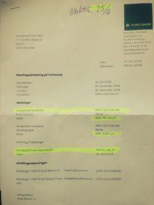 Flot at igen 29-06-2018 at tage selv 81.000 kr. fra vores konto for et lån, jyske bank lyver om er optaget på 4.328.000 kr.