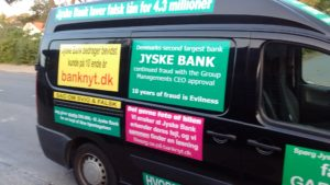Just ask the Danish bank, jyske bank Why the bank not doe admit Fraud And why the bank not start to apologize all crimes. www.banknyt.dk - What would you say to your bank if they were snatched millions from your account? For alleged interest rate, on a loan, since 1 January 2009, but there is no loan taken. - And you discovered that the bank has lied, exploited That you were ill after a stroke, was was not a problem for jyske bank to deceive you, and for the last 10 years The bank, refuses to quit cheating. -- -- When the Danish banks is cynical and fully aware, about their criminal activities, but nevertheless continue crimes as fraud against the bank's customers. That the Danish customers, do not can trust their own bank Is becoming a huge problem for Denmark, and the Danish bank customers. - And can infect Denmark's reputation, as no-one said that the want to stop the banks many violations of laws and regulations. Ranging from money laundering to the more coarse crimes such as documentary fraud or just fraud - Society can hardly be a major problem for the confidence of the Danish bank's The Danish bank (Jyske bank) Jutland bank has before got a big fine, for money laundering. Money laundering, is a crime against the state, and against all taxpayers in the country, the crime takes place in. - But this does not stop the Danish jyske bank, as now deliberately continues a fraud business. With CEO Anders Dam and Group Management full acept. - Jyske bank is most well known, as the bank is probably good to give bad advice, to earn money to the bank itself. Though the Danish bank is already well known, for providing poor advice that the bank as always hopes for the bad advice is not detected until after 3 years. So the bank with the law can avoid paying compensation with the law in hand. -- -- - - #JYSKE BANK BLEV OPDAGET / TAGET I AT LAVE #MANDATSVIG #BEDRAGERI #DOKUMENTFALSK #UDNYTTELSE #SVIG #FALSK #Bank #AnderChristianDam #Financial #News #Press #Share #Pol #Recommendation #Sale #Firesale #AndersDam #JyskeBank #ATP #PFA #MortenUlrikGade #PhilipBaruch #LES #BirgitBushThuesen #LundElmerSandager #Nykredit #MetteEgholmNielsen #Loan #Fraud #CasperDamOlsen #NicolaiHansen #AnetteKirkeby #SørenWoergaaed #Gangcrimes #Crimes #Koncernledelse #jyskebank #Koncernbestyrelsen #SvenBuhrkall #KurtBligaardPedersen #RinaAsmussen #PhilipBaruch #JensABorup #KeldNorup #ChristinaLykkeMunk #HaggaiKunisch #MarianneLillevang #Koncerndirektionen #AndersDam #LeifFLarsen #NielsErikJakobsen #PerSkovhus #PeterSchleidt - -IMG_20180721_052901018