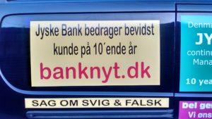 Vi har før dette blev påsat bil, kontaktet Morten Ulrik Gade Jyske Bank om jyske bank har nogle bemærkninger til www.banknyt.dk og dette påstulat VI FIK HELLER IKKE DER KONTAKT