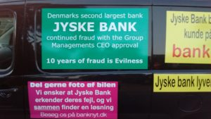 Just ask the Danish bank, jyske bank Why the bank not doe admit Fraud And why the bank not start to apologize all crimes. www.banknyt.dk - What would you say to your bank if they were snatched millions from your account? For alleged interest rate, on a loan, since 1 January 2009, but there is no loan taken. - And you discovered that the bank has lied, exploited That you were ill after a stroke, was was not a problem for jyske bank to deceive you, and for the last 10 years The bank, refuses to quit cheating. -- -- When the Danish banks is cynical and fully aware, about their criminal activities, but nevertheless continue crimes as fraud against the bank's customers. That the Danish customers, do not can trust their own bank Is becoming a huge problem for Denmark, and the Danish bank customers. - And can infect Denmark's reputation, as no-one said that the want to stop the banks many violations of laws and regulations. Ranging from money laundering to the more coarse crimes such as documentary fraud or just fraud - Society can hardly be a major problem for the confidence of the Danish bank's The Danish bank (Jyske bank) Jutland bank has before got a big fine, for money laundering. Money laundering, is a crime against the state, and against all taxpayers in the country, the crime takes place in. - But this does not stop the Danish jyske bank, as now deliberately continues a fraud business. With CEO Anders Dam and Group Management full acept. - Jyske bank is most well known, as the bank is probably good to give bad advice, to earn money to the bank itself. Though the Danish bank is already well known, for providing poor advice that the bank as always hopes for the bad advice is not detected until after 3 years. So the bank with the law can avoid paying compensation with the law in hand. -- -- - - #JYSKE BANK BLEV OPDAGET / TAGET I AT LAVE #MANDATSVIG #BEDRAGERI #DOKUMENTFALSK #UDNYTTELSE #SVIG #FALSK #Bank #AnderChristianDam #Financial #News #Press #Share #Pol #Recommendation #Sale #Firesale #AndersDam #JyskeBank #ATP #PFA #MortenUlrikGade #PhilipBaruch #LES #BirgitBushThuesen #LundElmerSandager #Nykredit #MetteEgholmNielsen #Loan #Fraud #CasperDamOlsen #NicolaiHansen #AnetteKirkeby #SørenWoergaaed #Gangcrimes #Crimes #Koncernledelse #jyskebank #Koncernbestyrelsen #SvenBuhrkall #KurtBligaardPedersen #RinaAsmussen #PhilipBaruch #JensABorup #KeldNorup #ChristinaLykkeMunk #HaggaiKunisch #MarianneLillevang #Koncerndirektionen #AndersDam #LeifFLarsen #NielsErikJakobsen #PerSkovhus #PeterSchleidt - -IMG_20180721_052934279