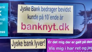 Just ask the Danish bank, jyske bank Why the bank not doe admit Fraud And why the bank not start to apologize all crimes. www.banknyt.dk - What would you say to your bank if they were snatched millions from your account? For alleged interest rate, on a loan, since 1 January 2009, but there is no loan taken. - And you discovered that the bank has lied, exploited That you were ill after a stroke, was was not a problem for jyske bank to deceive you, and for the last 10 years The bank, refuses to quit cheating. -- -- When the Danish banks is cynical and fully aware, about their criminal activities, but nevertheless continue crimes as fraud against the bank's customers. That the Danish customers, do not can trust their own bank Is becoming a huge problem for Denmark, and the Danish bank customers. - And can infect Denmark's reputation, as no-one said that the want to stop the banks many violations of laws and regulations. Ranging from money laundering to the more coarse crimes such as documentary fraud or just fraud - Society can hardly be a major problem for the confidence of the Danish bank's The Danish bank (Jyske bank) Jutland bank has before got a big fine, for money laundering. Money laundering, is a crime against the state, and against all taxpayers in the country, the crime takes place in. - But this does not stop the Danish jyske bank, as now deliberately continues a fraud business. With CEO Anders Dam and Group Management full acept. - Jyske bank is most well known, as the bank is probably good to give bad advice, to earn money to the bank itself. Though the Danish bank is already well known, for providing poor advice that the bank as always hopes for the bad advice is not detected until after 3 years. So the bank with the law can avoid paying compensation with the law in hand. -- -- - - #JYSKE BANK BLEV OPDAGET / TAGET I AT LAVE #MANDATSVIG #BEDRAGERI #DOKUMENTFALSK #UDNYTTELSE #SVIG #FALSK #Bank #AnderChristianDam #Financial #News #Press #Share #Pol #Recommendation #Sale #Firesale #AndersDam #JyskeBank #ATP #PFA #MortenUlrikGade #PhilipBaruch #LES #BirgitBushThuesen #LundElmerSandager #Nykredit #MetteEgholmNielsen #Loan #Fraud #CasperDamOlsen #NicolaiHansen #AnetteKirkeby #SørenWoergaaed #Gangcrimes #Crimes #Koncernledelse #jyskebank #Koncernbestyrelsen #SvenBuhrkall #KurtBligaardPedersen #RinaAsmussen #PhilipBaruch #JensABorup #KeldNorup #ChristinaLykkeMunk #HaggaiKunisch #MarianneLillevang #Koncerndirektionen #AndersDam #LeifFLarsen #NielsErikJakobsen #PerSkovhus #PeterSchleidt - -IMG_20180721_052945924_HDR