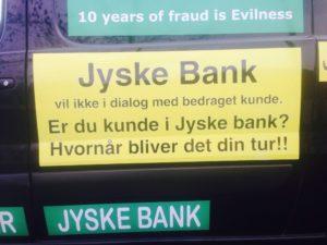 Hvornår kommer turen til dig. :-( Koncernledelsen i jyske bank bag fortsat bedrageri imod kunde Anders Dam er iskold selv om han er en af hovedmændene - Derfor stol ikke på jyske bank SE BEVISER PÅ BANKNYT.dk